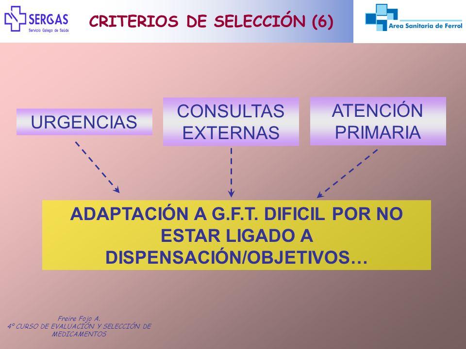 CRITERIOS DE SELECCIÓN (6)