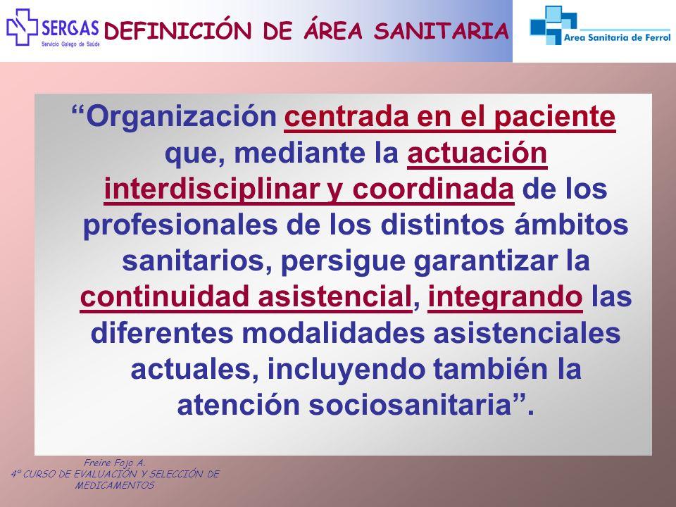 DEFINICIÓN DE ÁREA SANITARIA
