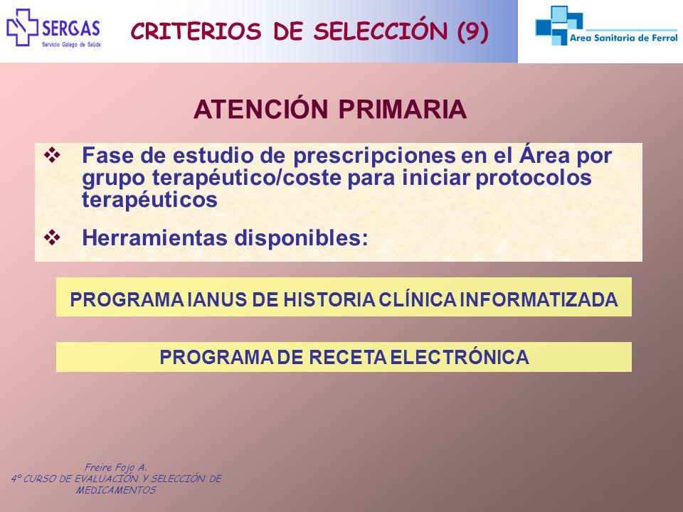 ATENCIÓN PRIMARIA CRITERIOS DE SELECCIÓN (9)