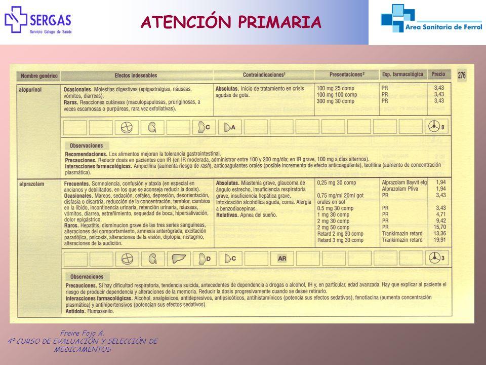 4º CURSO DE EVALUACIÓN Y SELECCIÓN DE MEDICAMENTOS