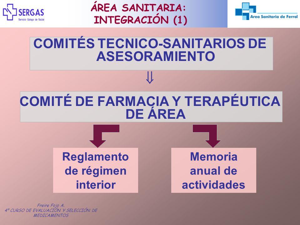 COMITÉS TECNICO-SANITARIOS DE ASESORAMIENTO 