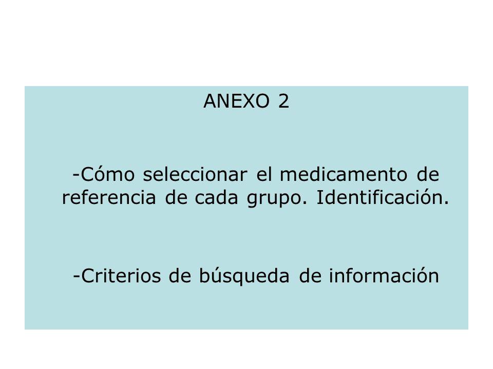 -Criterios de búsqueda de información