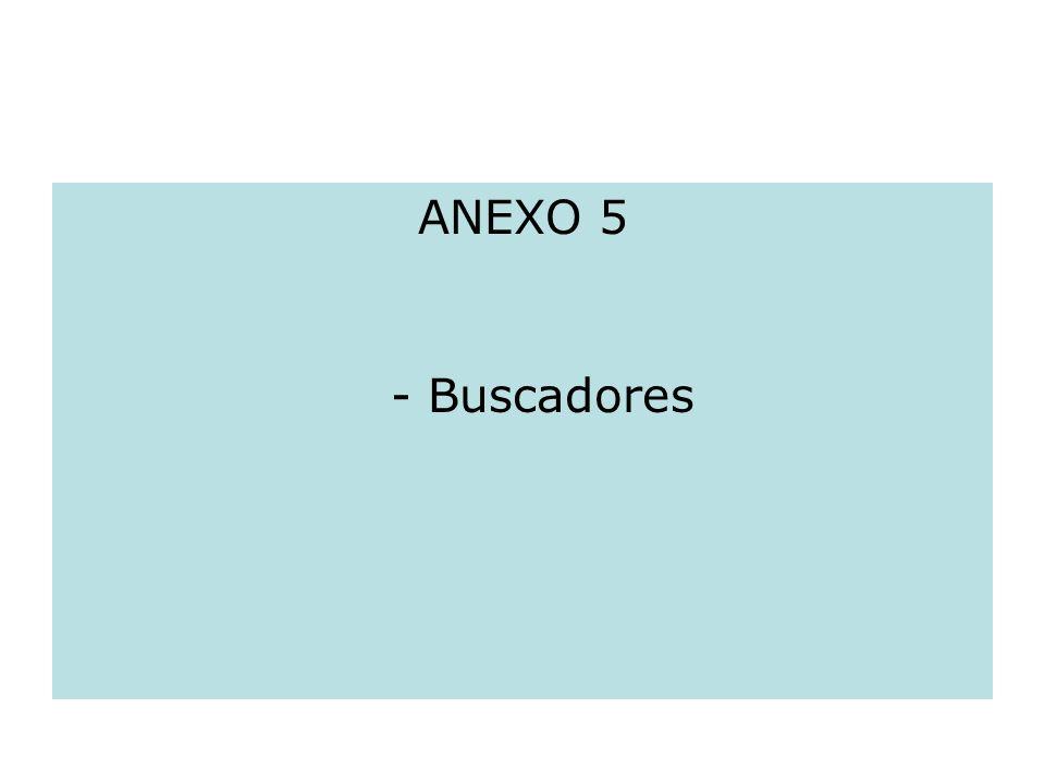 ANEXO 5 - Buscadores
