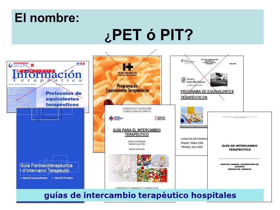 guías de intercambio terapéutico hospitales