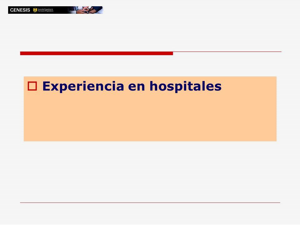 Experiencia en hospitales