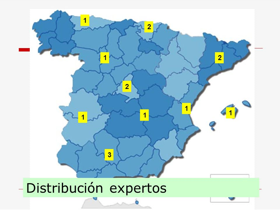 Distribución expertos