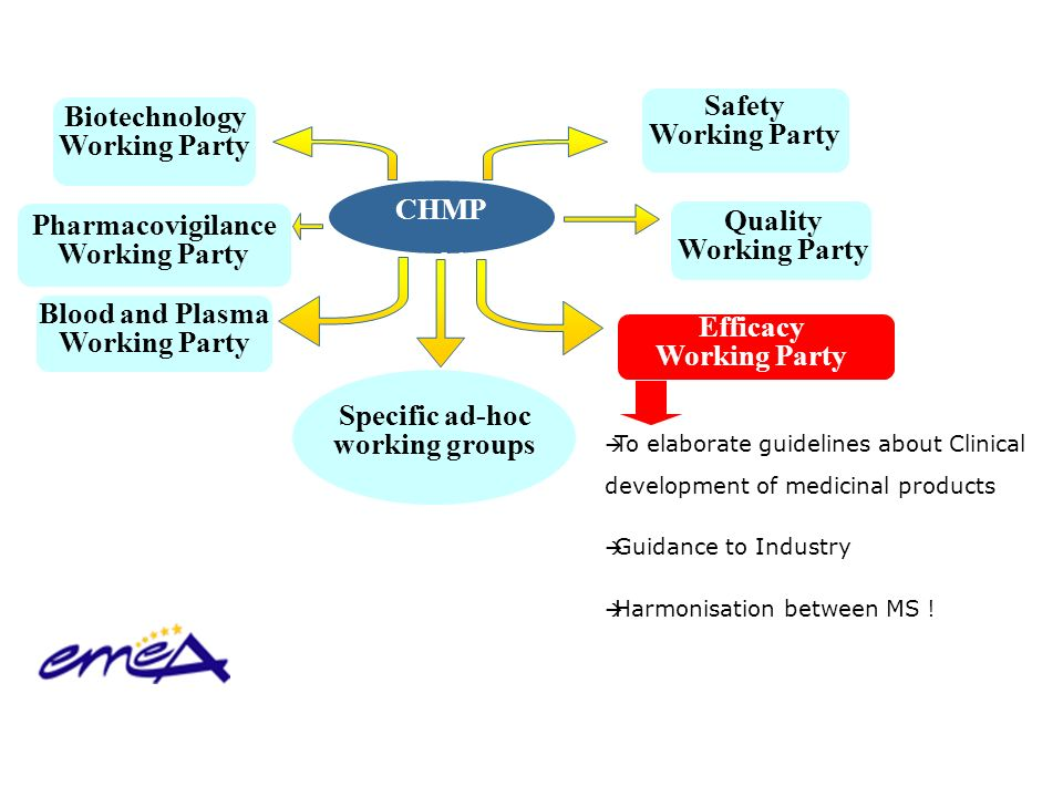 Safety Biotechnology Working Party Working Party CHMP Working Parties