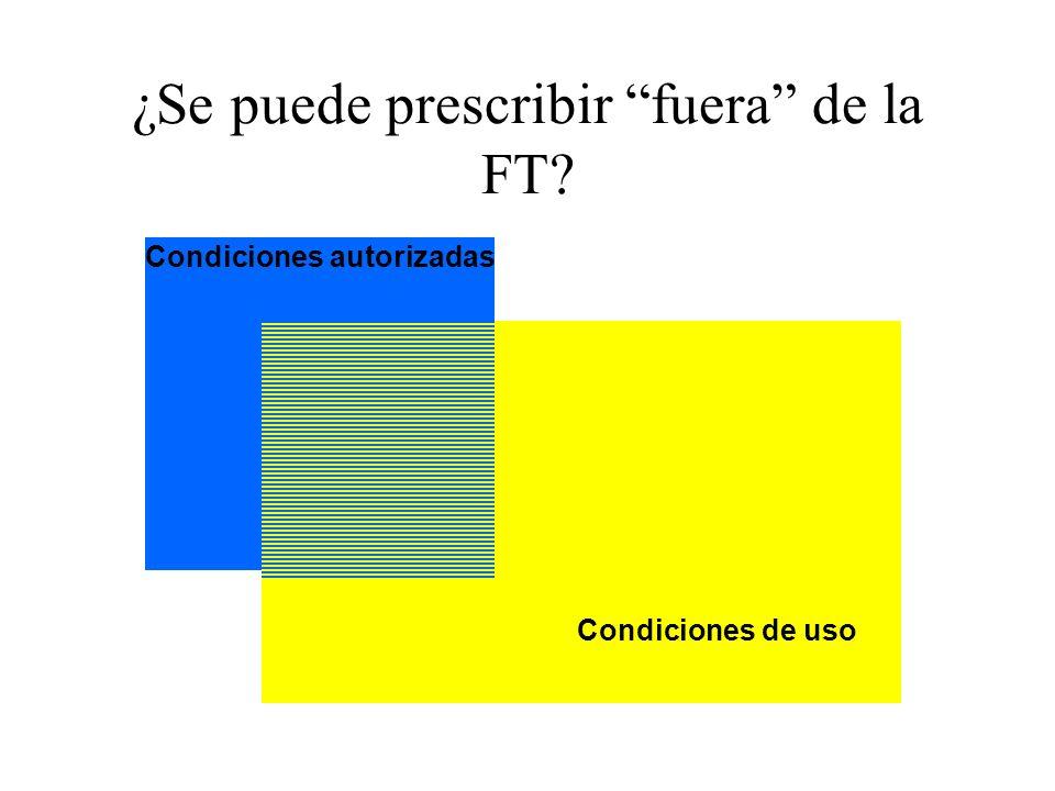 ¿Se puede prescribir fuera de la FT