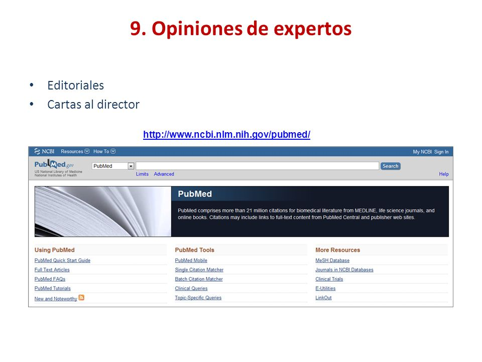 9. Opiniones de expertos Editoriales Cartas al director