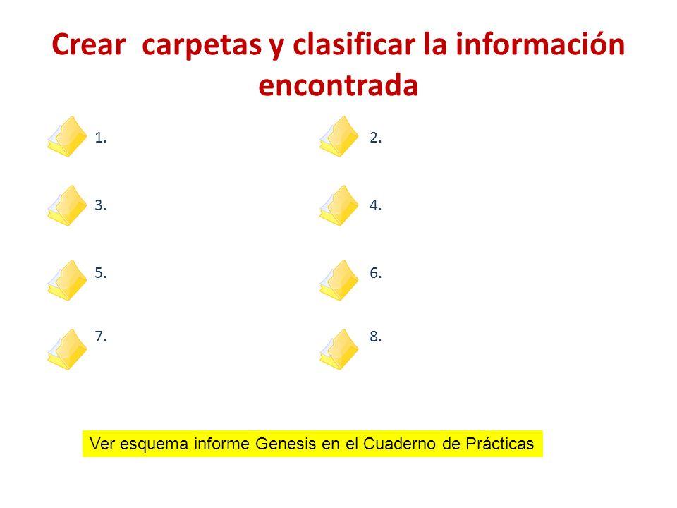 Crear carpetas y clasificar la información