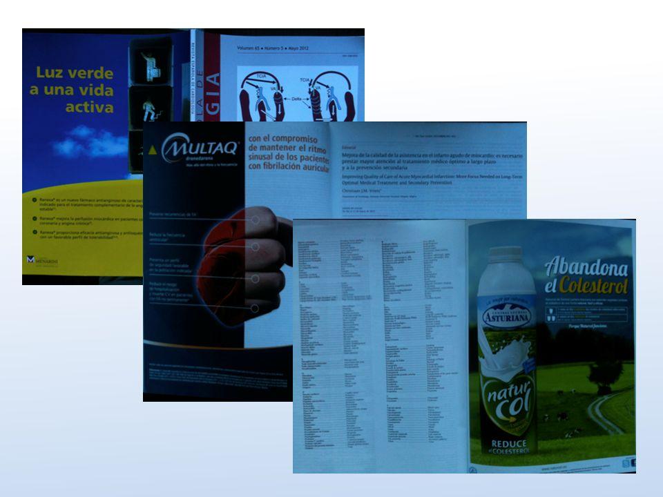 … presión farmacéutica, incluso en las revistas médicas