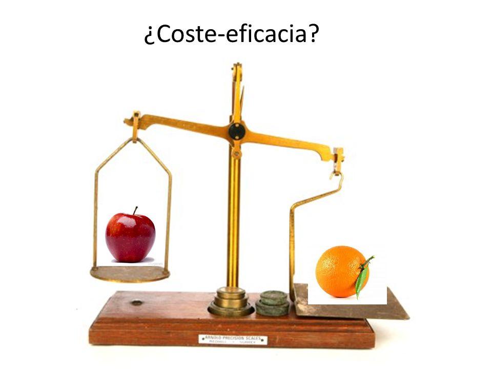 ¿Coste-eficacia