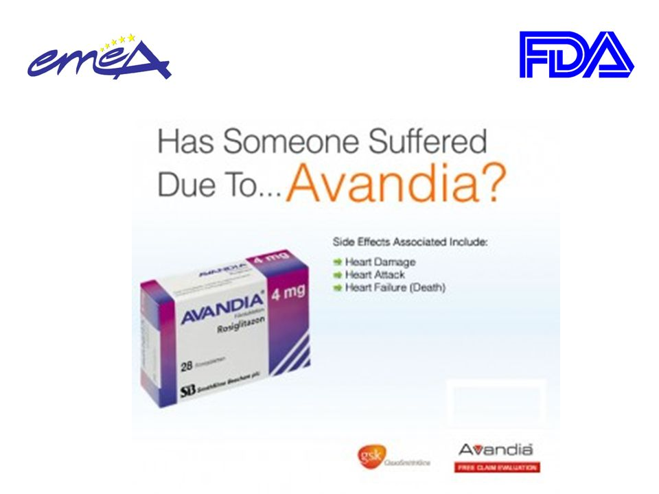 23/09/2010European Medicines Agency recommends suspension of Avandia, Avandamet and Avaglim Anti-diabetes medication to be taken off the market.