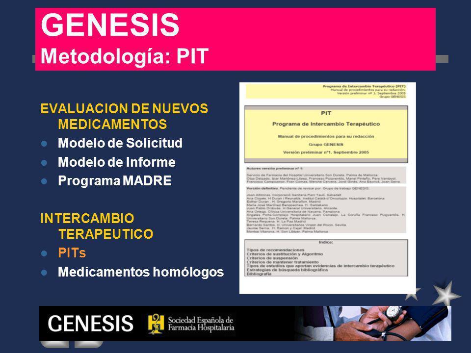 GENESIS Metodología: PIT
