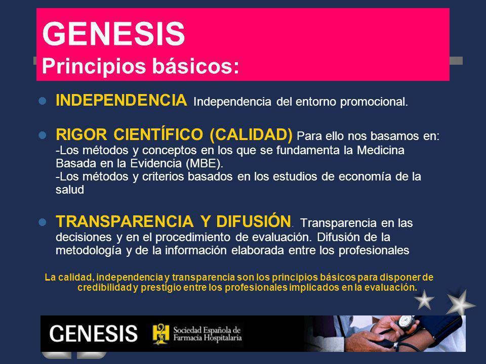 GENESIS Principios básicos: