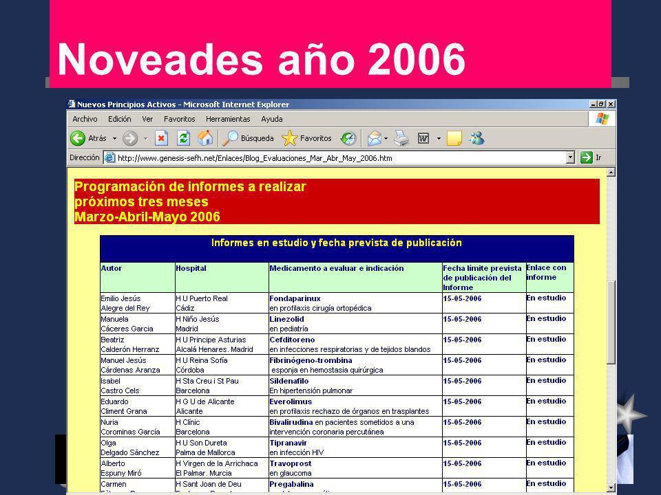 Noveades año 2006