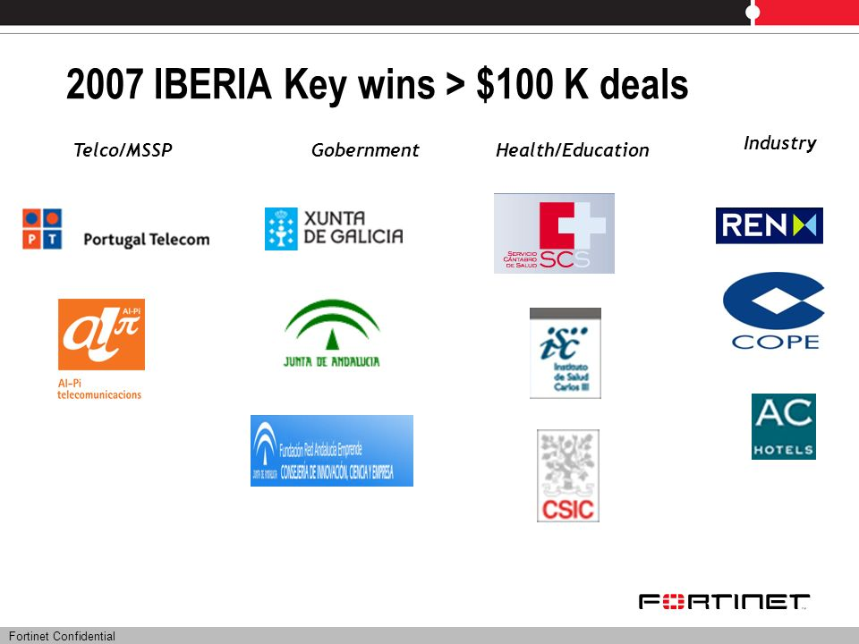 2007 IBERIA Key wins > $100 K deals
