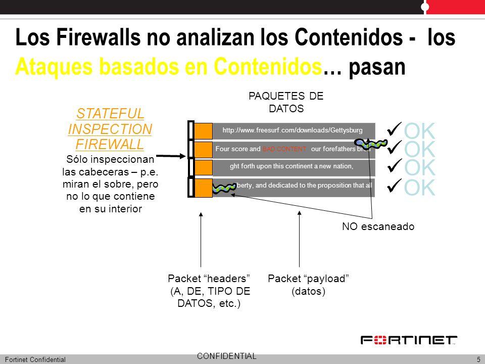 Los Firewalls no analizan los Contenidos - los Ataques basados en Contenidos… pasan