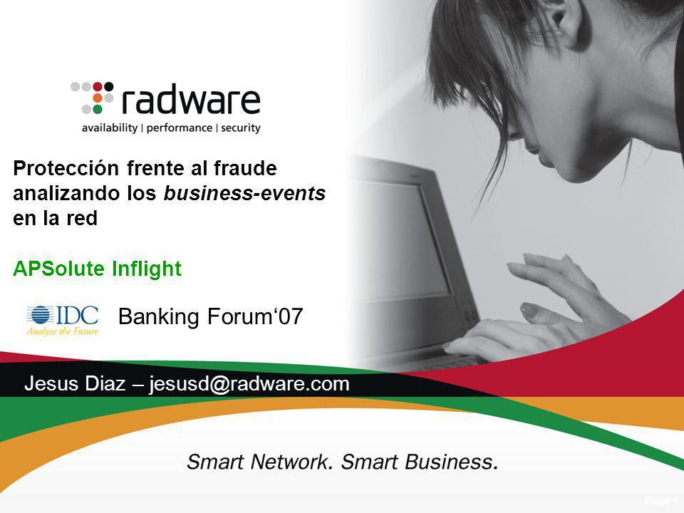 Banking Forum'07 Jesus Diaz – jesusd@radware.com