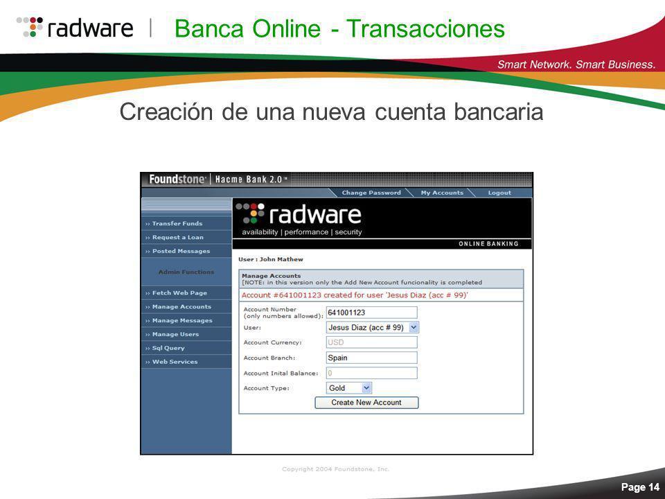 Banca Online - Transacciones