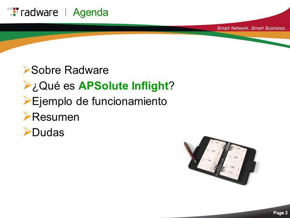 ¿Qué es APSolute Inflight Ejemplo de funcionamiento Resumen Dudas