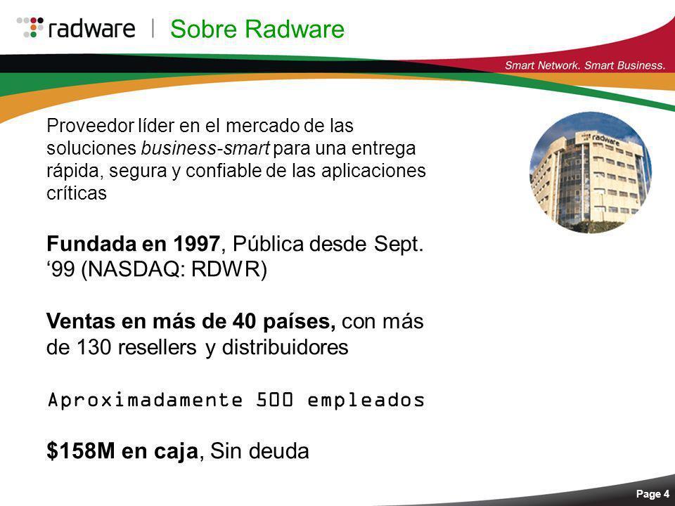 Sobre Radware $158M en caja, Sin deuda