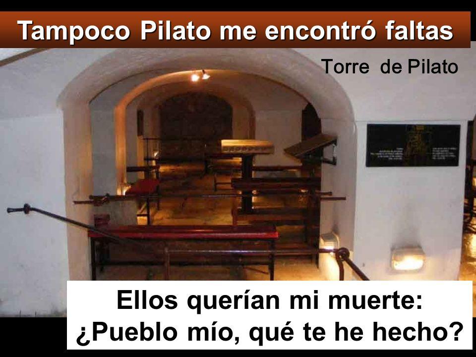 Tampoco Pilato me encontró faltas