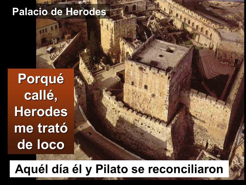Porqué callé, Herodes me trató de loco