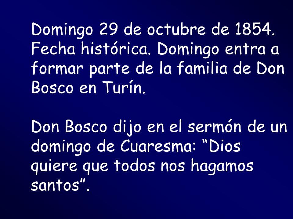 Domingo 29 de octubre de 1854. Fecha histórica