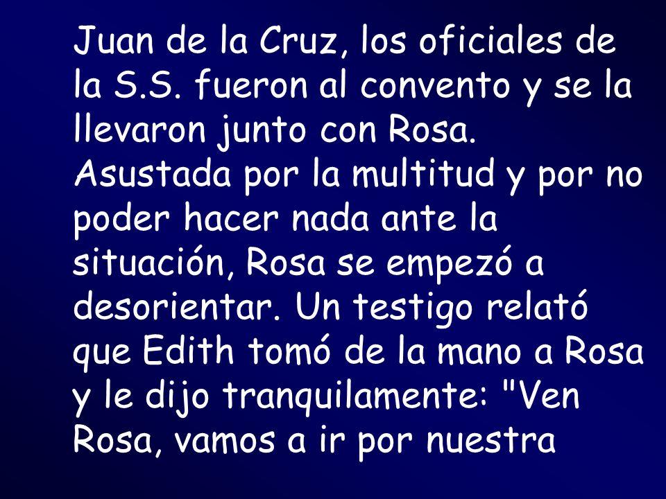 Juan de la Cruz, los oficiales de la S. S