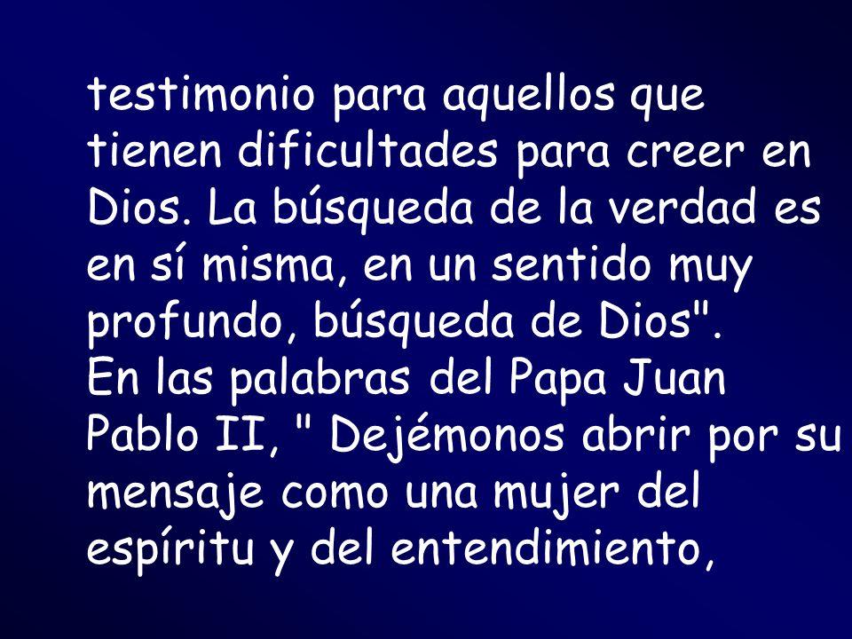testimonio para aquellos que tienen dificultades para creer en Dios