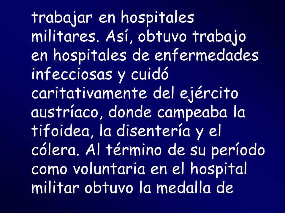 trabajar en hospitales militares