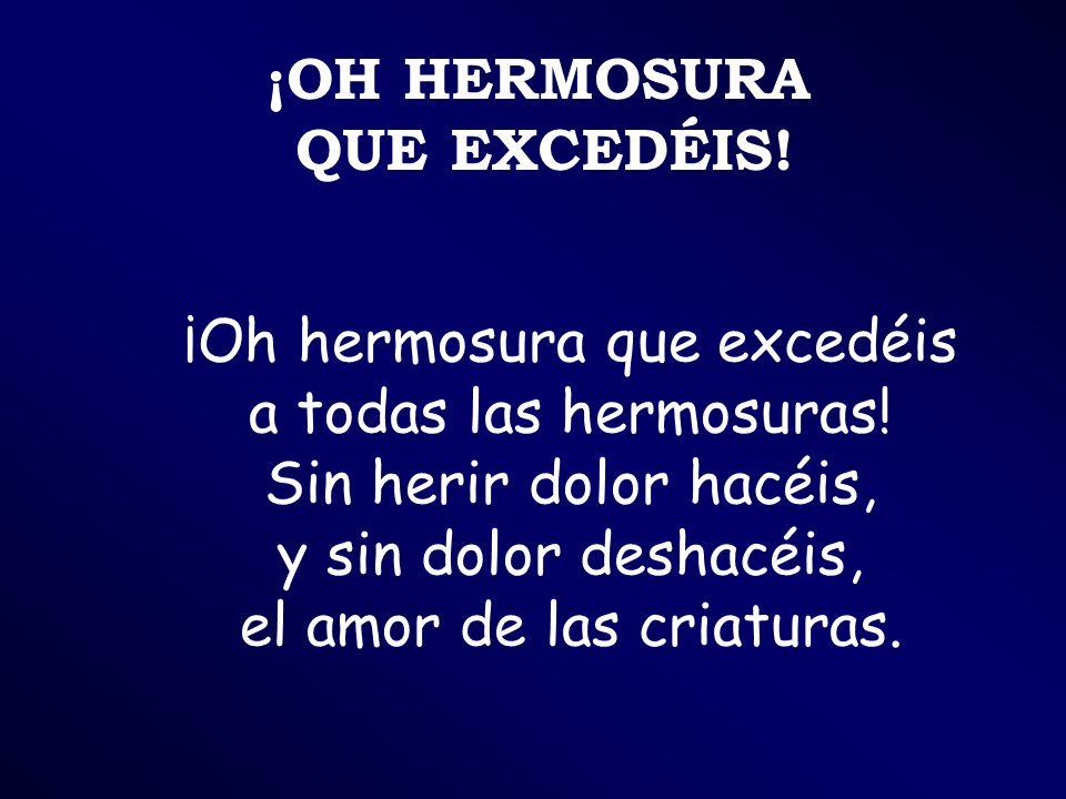 ¡OH HERMOSURA QUE EXCEDÉIS!