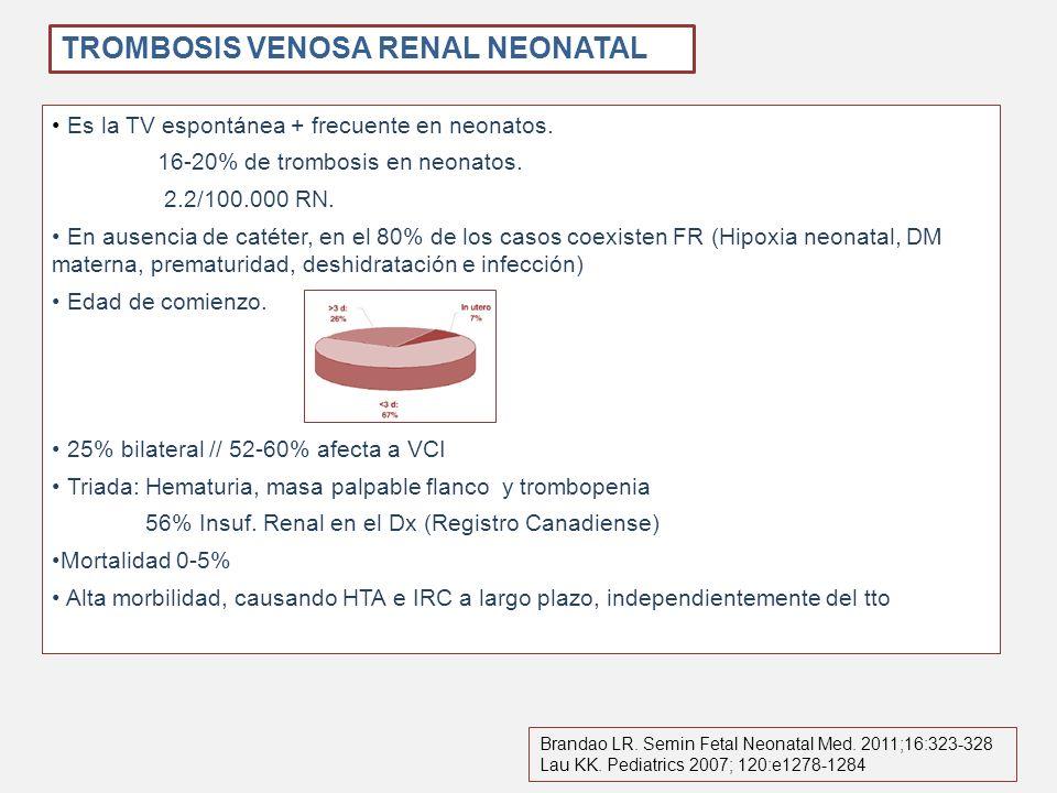 TROMBOSIS VENOSA RENAL NEONATAL