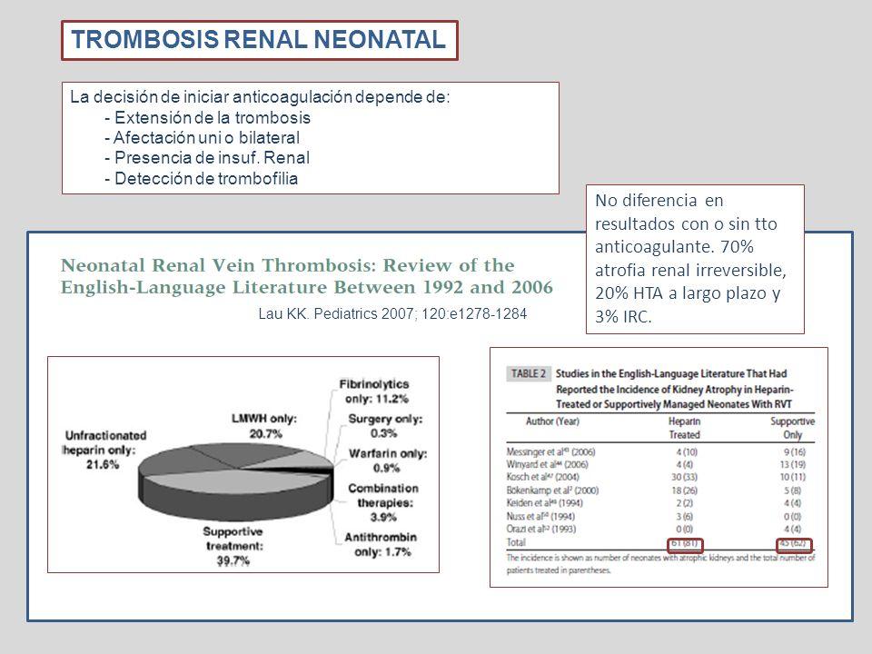 TROMBOSIS RENAL NEONATAL