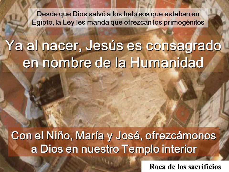 Ya al nacer, Jesús es consagrado en nombre de la Humanidad