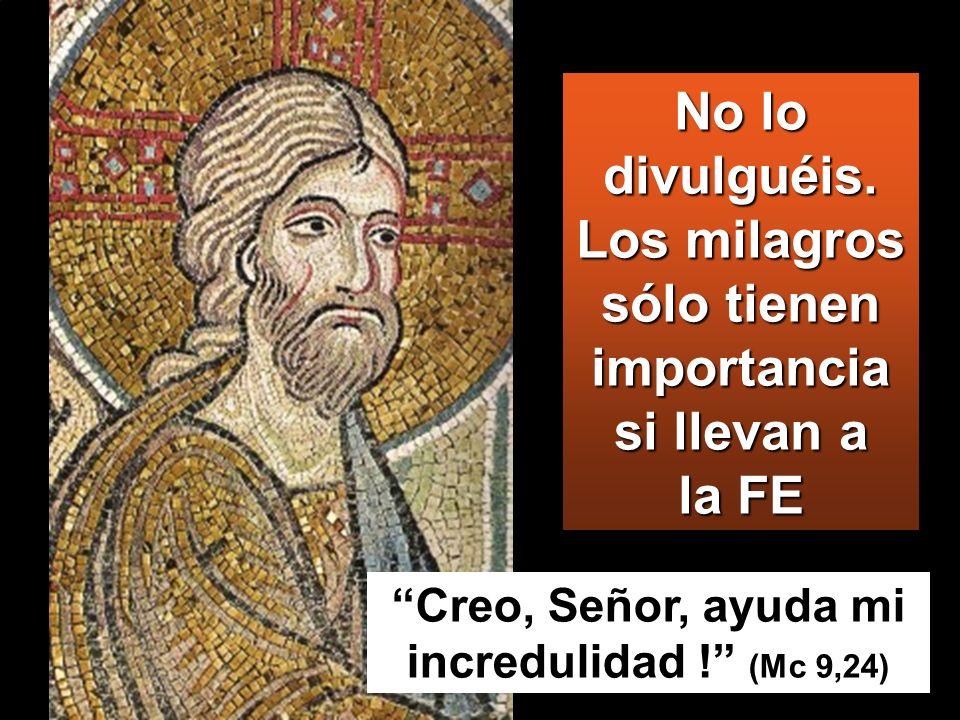 Creo, Señor, ayuda mi incredulidad ! (Mc 9,24)