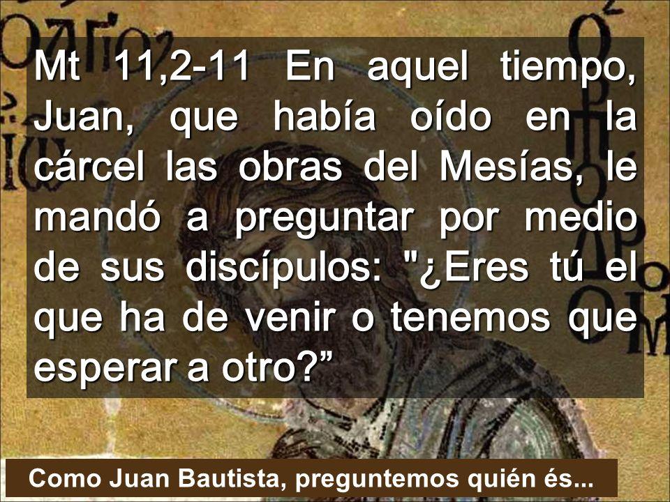 Como Juan Bautista, preguntemos quién és...