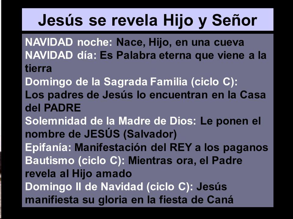 Jesús se revela Hijo y Señor