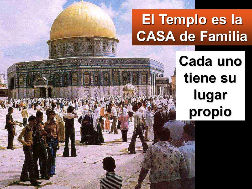 El Templo es la CASA de Familia Cada uno tiene su lugar propio