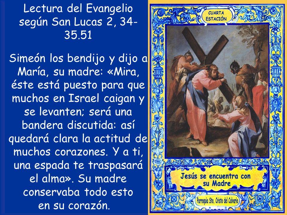 Lectura del Evangelio según San Lucas 2, 34-35.51