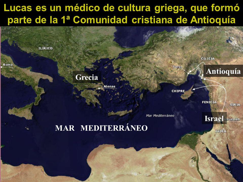 Lucas es un médico de cultura griega, que formó parte de la 1ª Comunidad cristiana de Antioquía