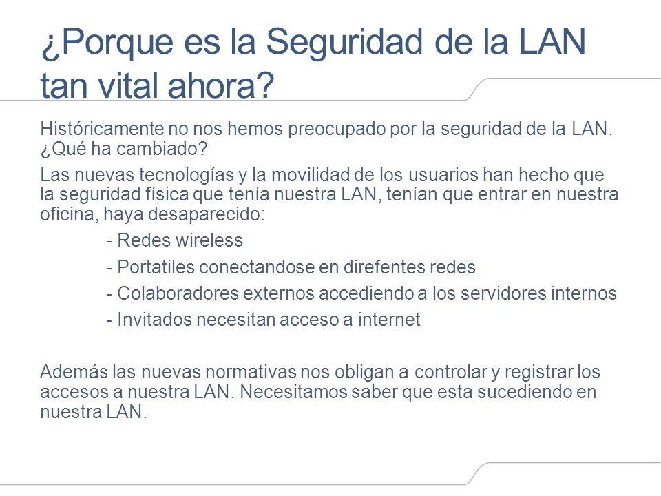 ¿Porque es la Seguridad de la LAN tan vital ahora