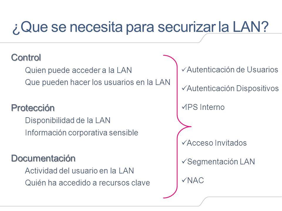 ¿Que se necesita para securizar la LAN