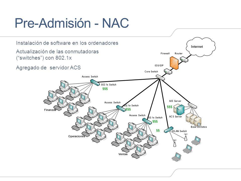 Pre-Admisión - NAC Instalación de software en los ordenadores