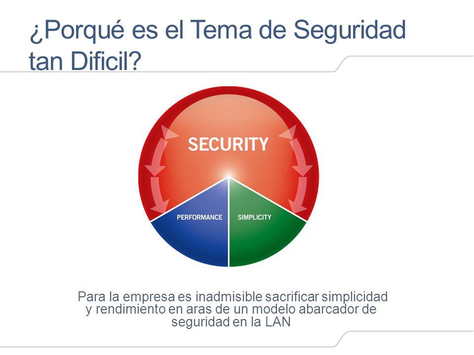 ¿Porqué es el Tema de Seguridad tan Dificil