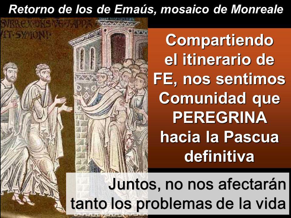 Retorno de los de Emaús, mosaico de Monreale