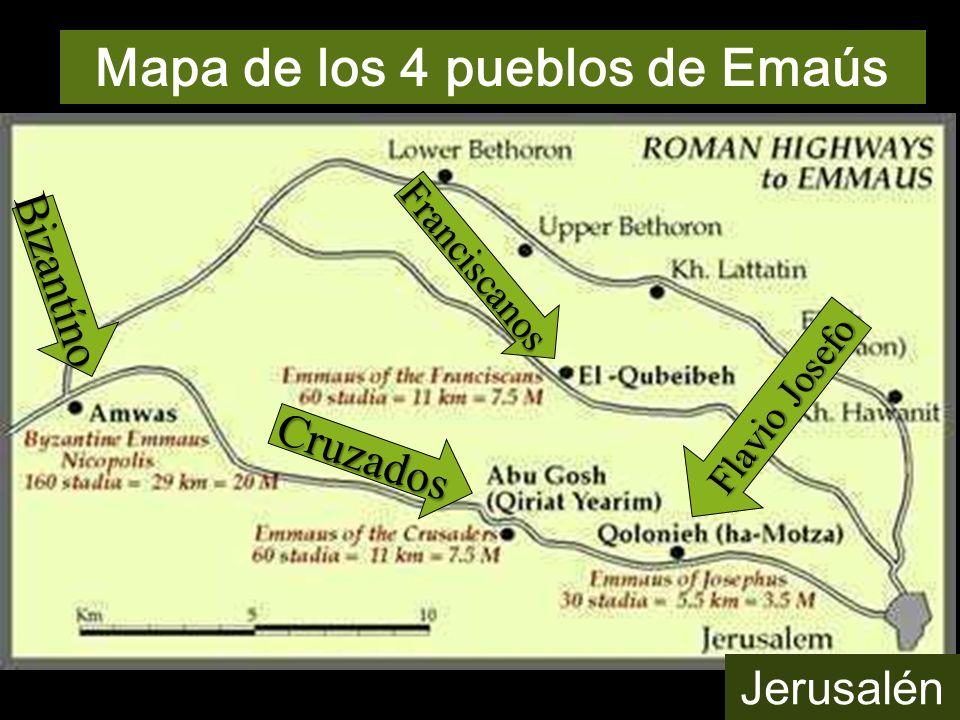 Mapa de los 4 pueblos de Emaús