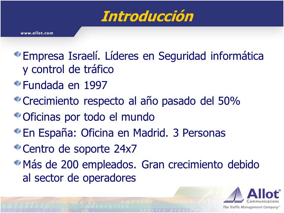 Introducción Empresa Israelí. Líderes en Seguridad informática y control de tráfico. Fundada en 1997.