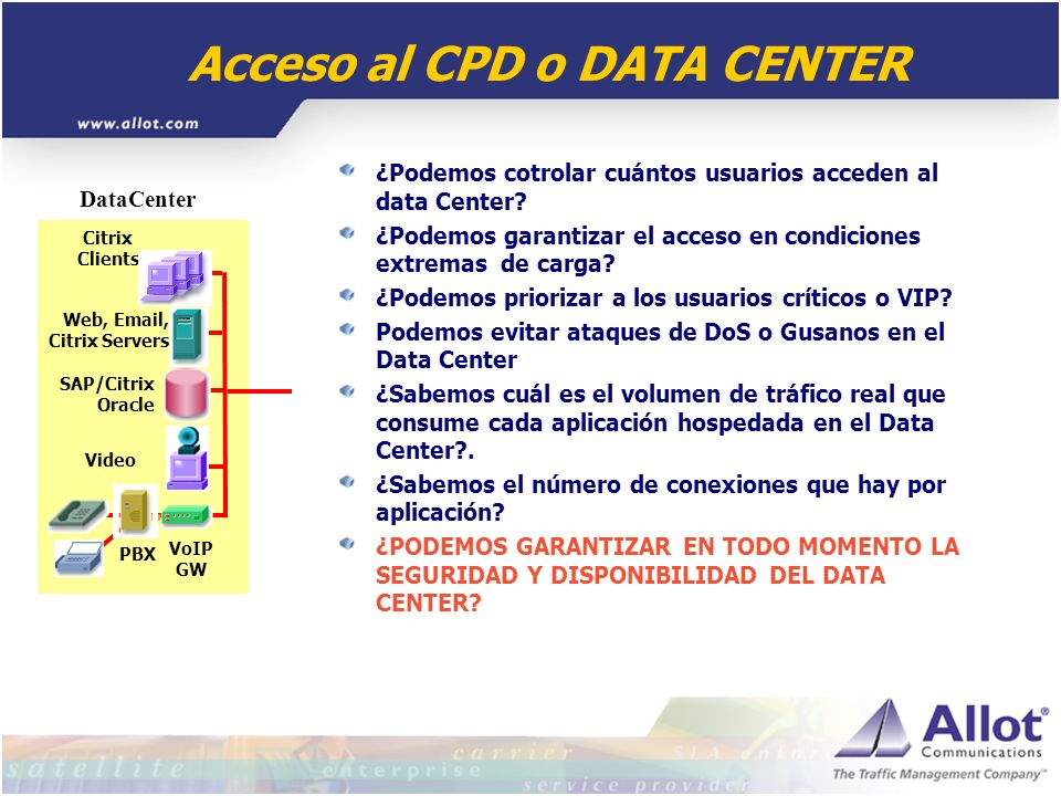 Acceso al CPD o DATA CENTER